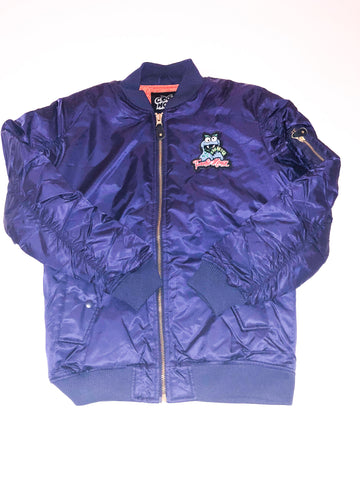 Blue Cookie Money Chenille Bomber