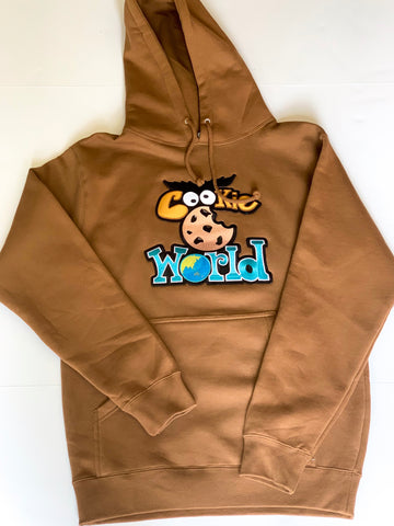 Brown Cookie World Hoodie