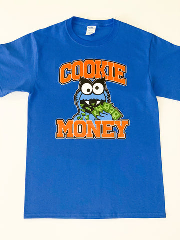Royal Blue Cookie Money Logo T