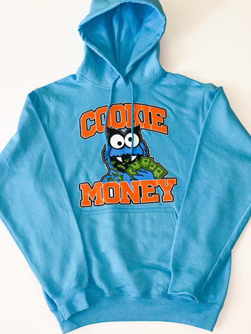 Baby Blue Cookie Money Logo Hoodie