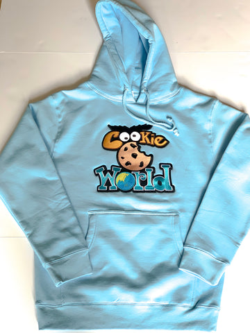 Baby Blue Cookie World Hoodie