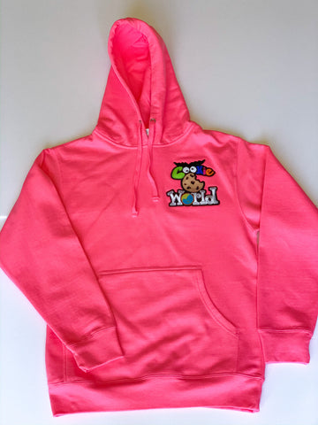 Magenta Cookie World Heart Patch Hoodie