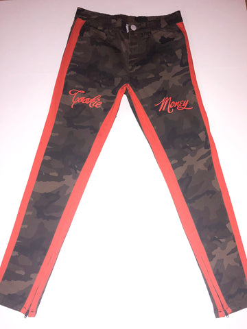 Cookie Money Army Pants (orange stripe)