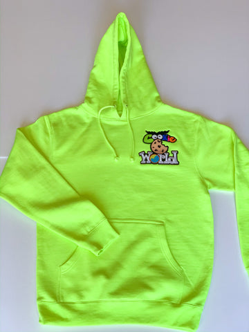 Neon Cookie World Heart Patch Hoodie