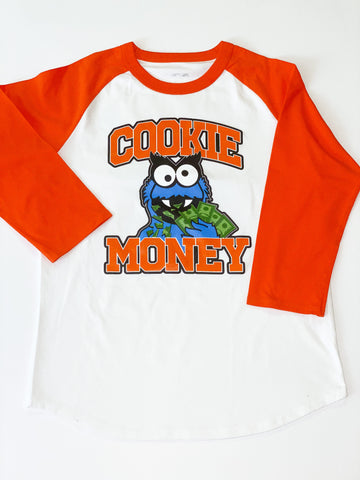 Orange Cookie Money Baseball T