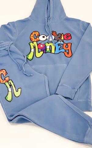 Blue Cookie Money slim fit sweatsuit