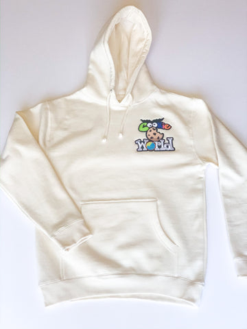 Bone Cookie World Heart Patch Hoodie