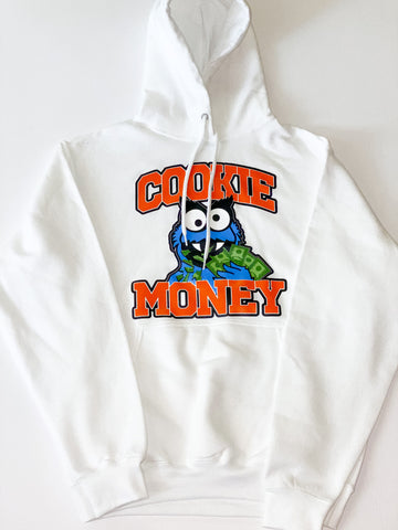 White Cookie Money Logo Hoodie