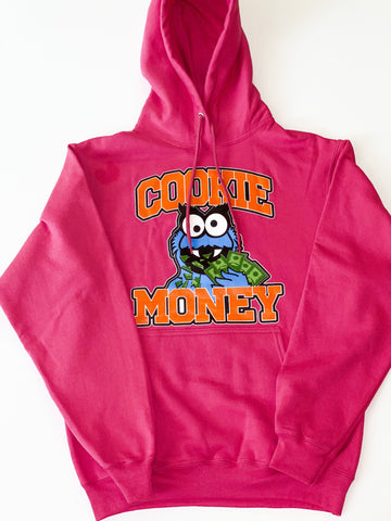 Magenta Cookie Money Logo Hoodie