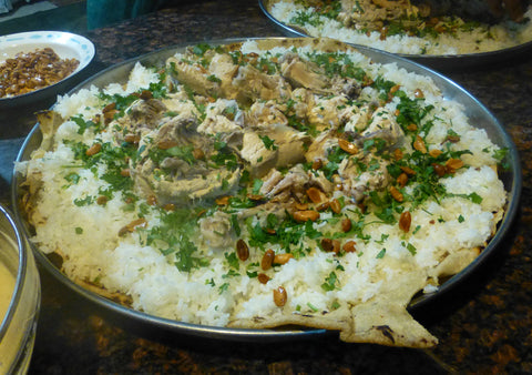 Mansaf During Palestinian Wedding
