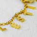 Palestine Letters Gold Necklace