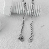 Free Palestine Silver Necklace