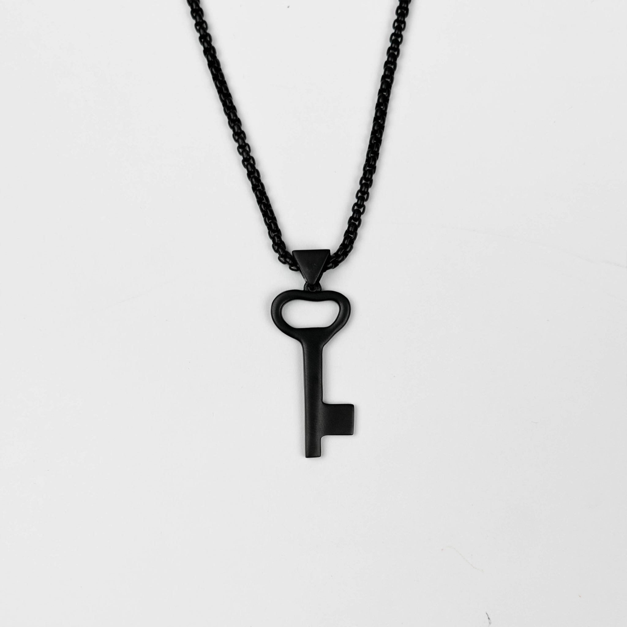 Right Of Return Black Necklace