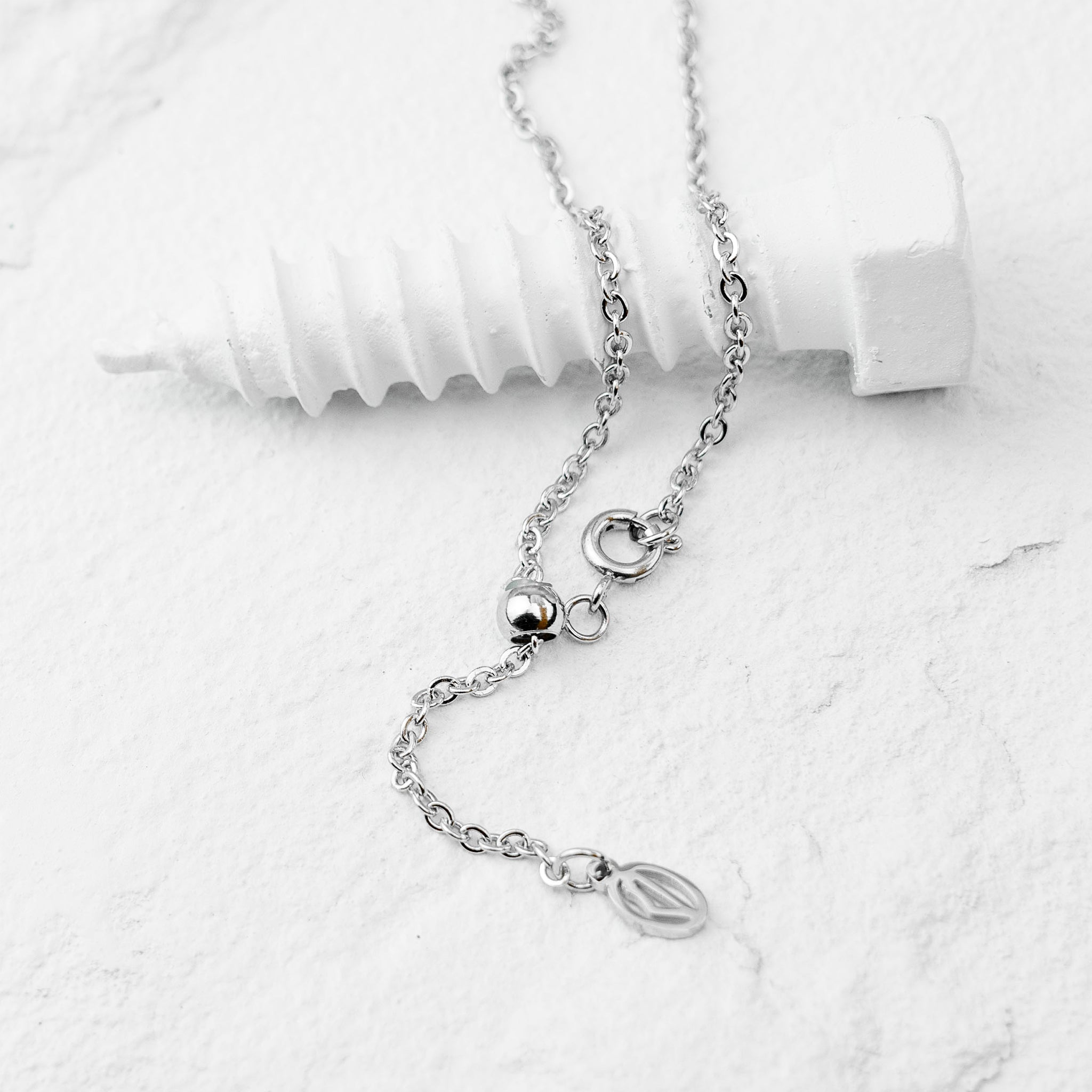 I Love Palestine Silver Necklace