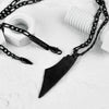 Palestine Map Black Necklace