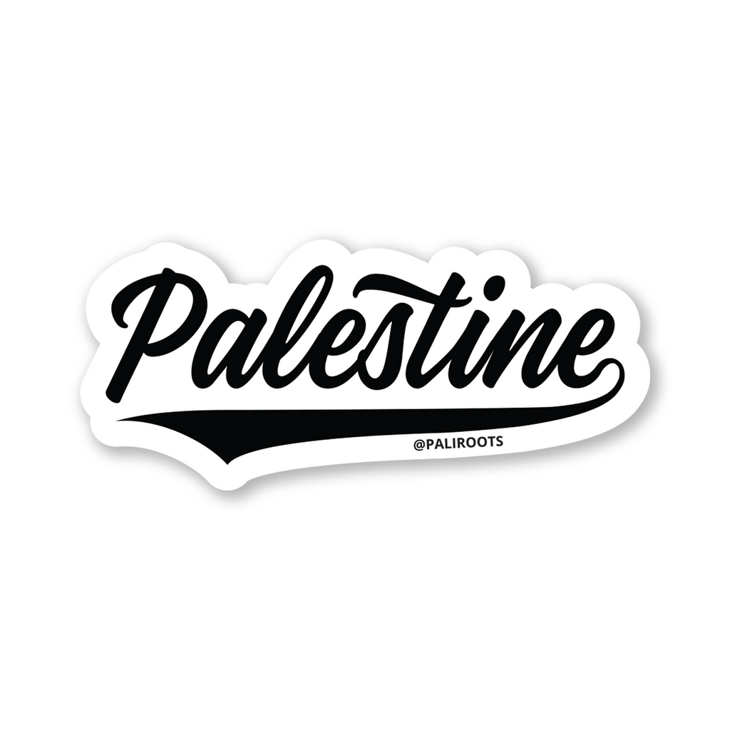 Palestine Type Sticker