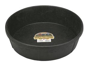 FEEDER ROUND 3-GALLON RUBBER BLACK - [product_type} - Hamps Saddle & Tack
