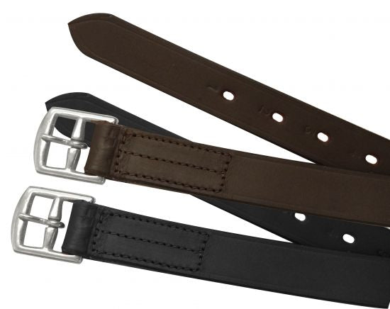 English stirrup leathers.