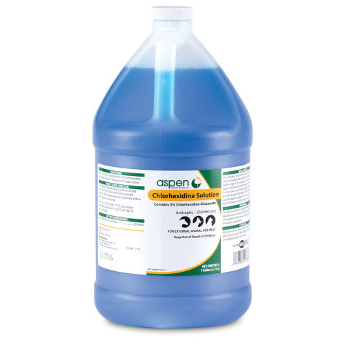 Aspen Chlorhexidine Solution Gallon - [product_type} - Hamps Saddle & Tack