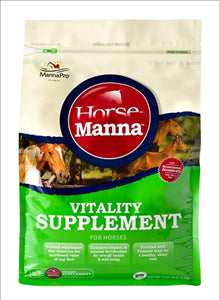 Manna Pro Horse Manna Vitality Equine Supplement for Horses, 11.25-Pound - - Barn Supply - Barn Supplies - Hamps Saddle & Tack