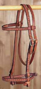 Basketweave Browband Headstall - [product_type} - Hamps Saddle & Tack