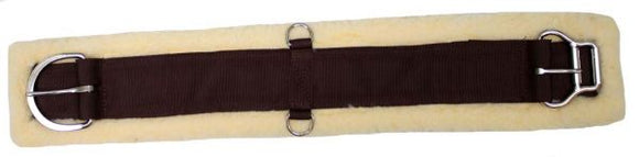 Showman fleece girth with double roller buckle - [product_type} - Hamps Saddle & Tack