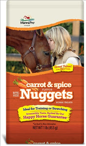 Manna Pro Carrot and Spice Trail Size Bite Size Nuggets, 1 lb - - Barn Supply - Barn Supplies - Hamps Saddle & Tack