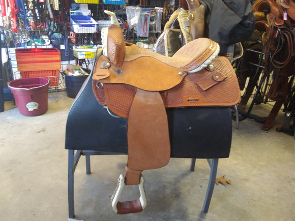 Buffalo Barrel Saddle Used - [product_type} - Hamps Saddle & Tack