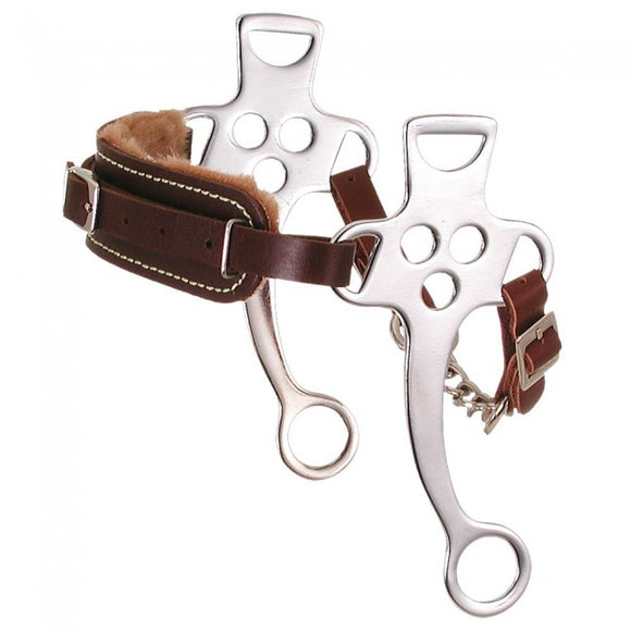 Fleece Lined Hackamore - [product_type} - Hamps Saddle & Tack