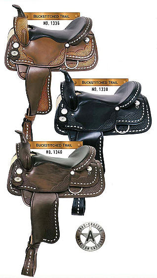 American Saddlery Circle A The Buckstitched Trail Saddle 1336, 1338, and 1340 - [product_type} - Hamps Saddle & Tack