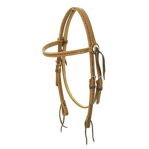 American Saddlery Running W Browband Headstall Quarter Horse - [product_type} - Hamps Saddle & Tack