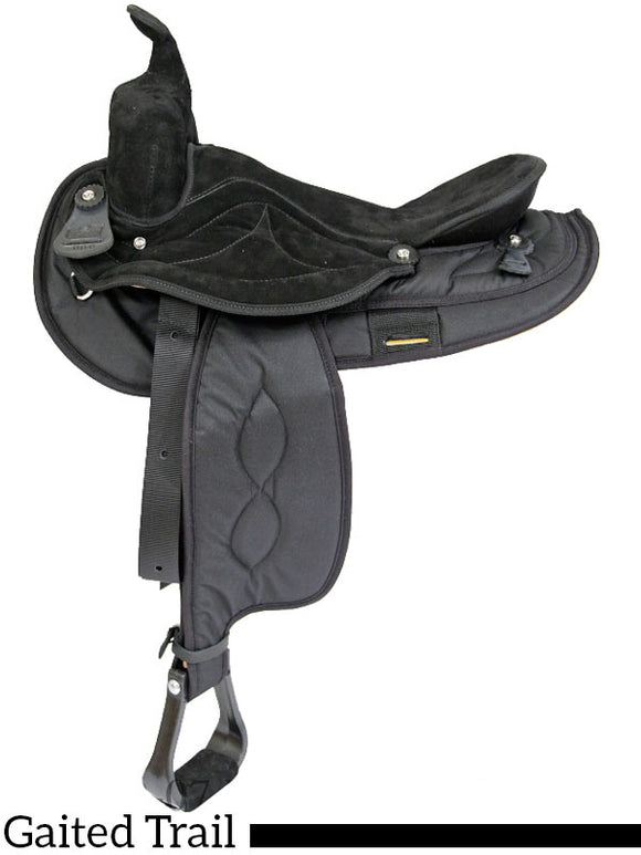 Big Horn Gaited cordura Saddle 605 16 inch 606 17 inch - [product_type} - Hamps Saddle & Tack