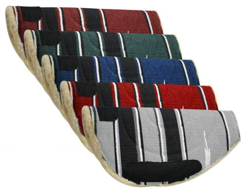 Showman ® Navajo barrel pad with Kodel fleece bottom and suede wear leathers