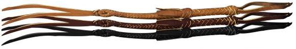 Leather braided riding quirt wrist loop