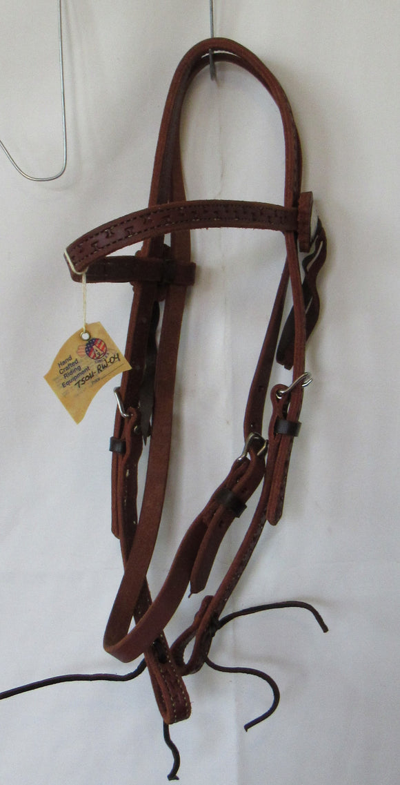 American Saddlery Floating X Browband Headstall Quarter Horse - [product_type} - Hamps Saddle & Tack