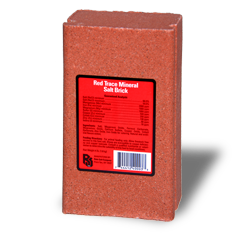 Red Trace Minerals Salt Brick for Large Farm Animals - Hamps Saddle & Tack