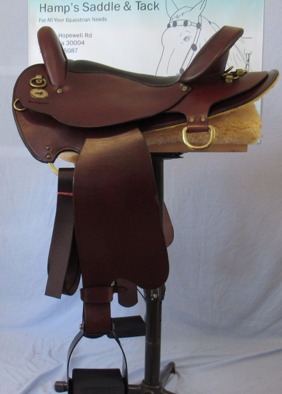 National Bridle Medium Gaited Trail Saddle 4682