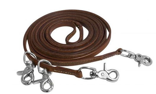 Showman Medium Oil Harness Leather Draw Reins Horse Tack 5631X