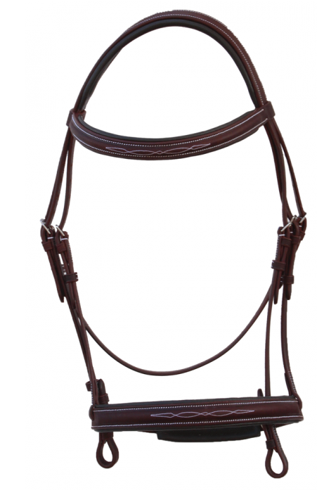 Snaffle Bridle w/Fancy Stitching - [product_type} - Hamps Saddle & Tack