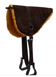 Showman Suede Leather Bareback Pad