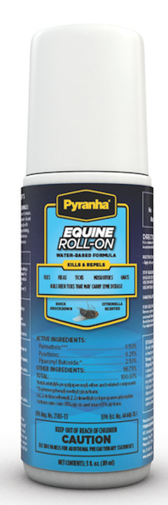 PYRANHA EQUINE FLY REPELLENT ROLL-ON 3 OZ