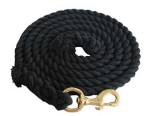 Heavy Duty Cotton 10 Foot Lead Rope with Brass Snap