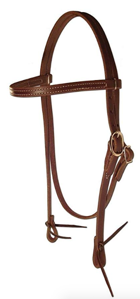 Berlin Custom Leather Ranch Brand Browband Headstall E600 - [product_type} - Hamps Saddle & Tack