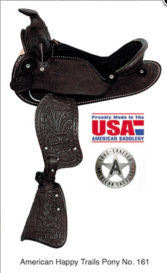 American No.161, No.162 Happy Trails Pony Saddle, 12″ Seat - [product_type} - Hamps Saddle & Tack