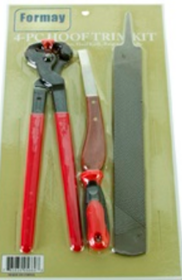 4 Pc Hoof Trim Kit - [product_type} - Hamps Saddle & Tack