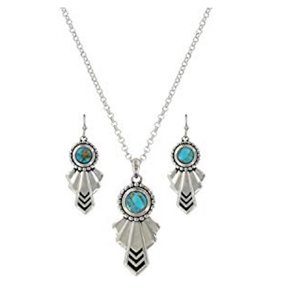 Montana Silversmiths Southwestern Turquoise Heaven Jewelry Set - [product_type} - Hamps Saddle & Tack