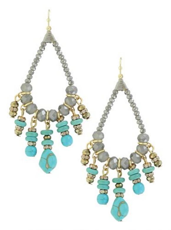 Summer Skies Beaded Chandelier Earrings