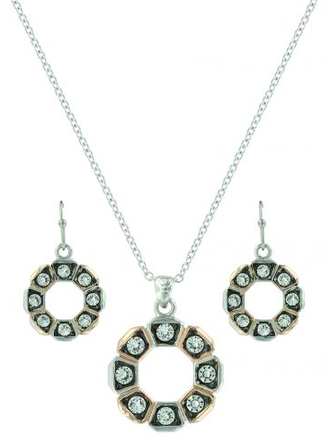 Montana Silversmiths Horseshoe Nail Wreath Jewelry Set - [product_type} - Hamps Saddle & Tack