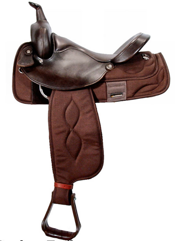 Big Horn Synthetic Full QH Bars Saddle - [product_type} - Hamps Saddle & Tack
