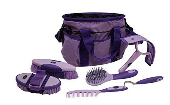 Showman  6 piece soft grip grooming kit with nylon carrying bag